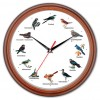 bird music wall clock