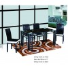 New style glass dining table