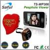touch screen 2.4GHz wireless digital door peephole viewer