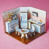 Mini doll house 3d puzzle wooden toy
