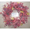 X'mas wreath,berry,artificial flower,seasonal decoration